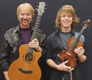 Musicians Tim, left, and Myles Thompson rkimball@abqjournal.com Wed Sep 24 09:03:10 -0600 2014 1411570988 FILENAME: 179036.jpg